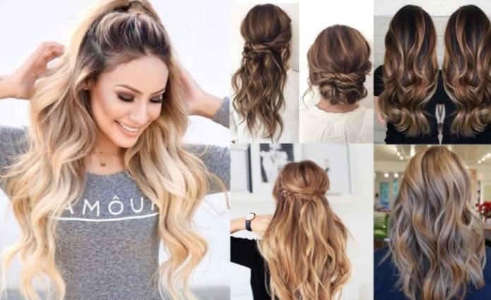 Uzun saçlar için havalı saç modelleri