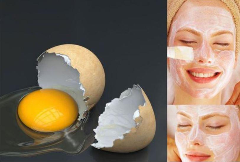 Yumurta beyazı ile maske
